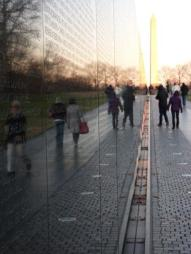 """Passing through"" The Vietnam Wall, Washington, DC"